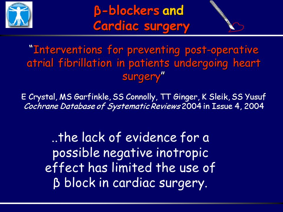 β-blockers and Cardiac surgery