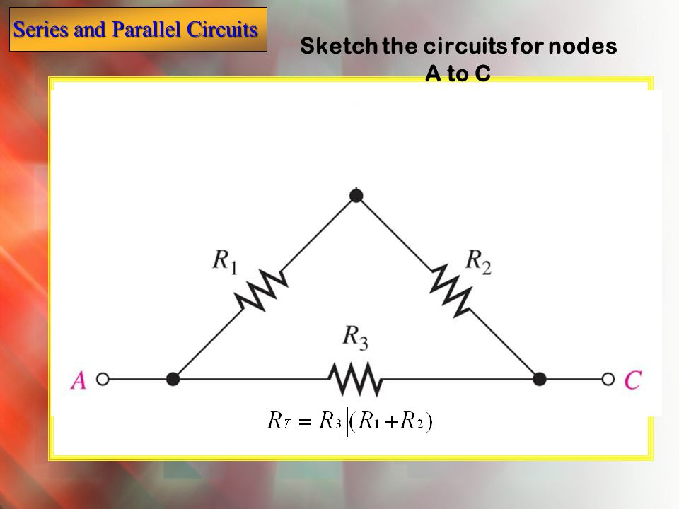 Sketch the circuits for nodes A to C