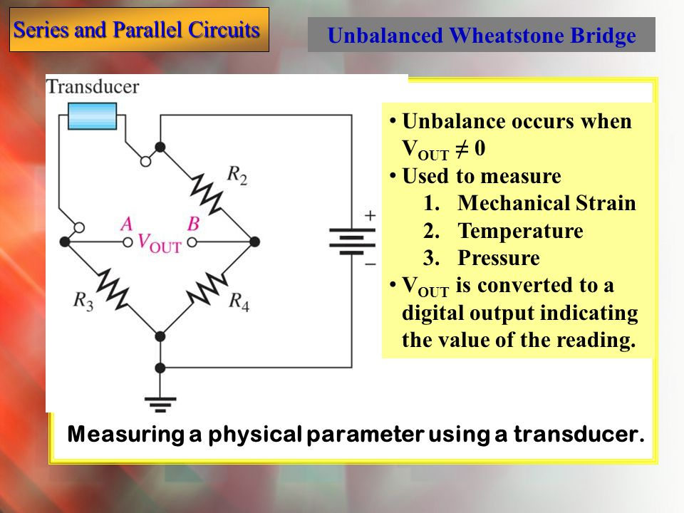 Measuring a physical parameter using a transducer.