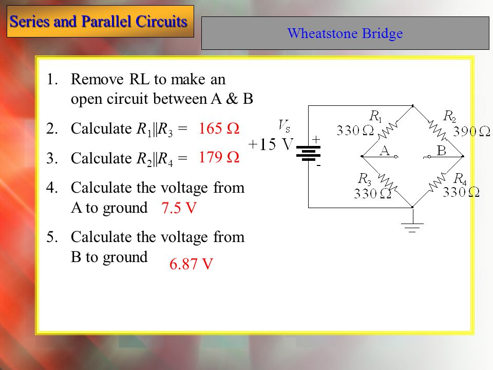 Remove RL to make an open circuit between A & B Calculate R1||R3 =