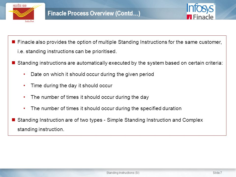 Finacle Process Overview (Contd…)