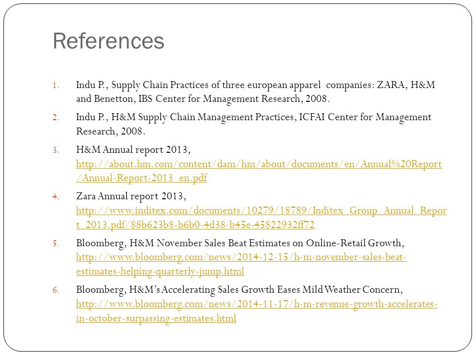 Best Practices in Supply Chain Management at H&M - ppt video