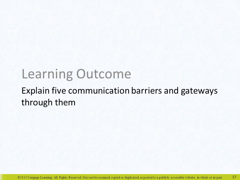 barriers and gateways to communication