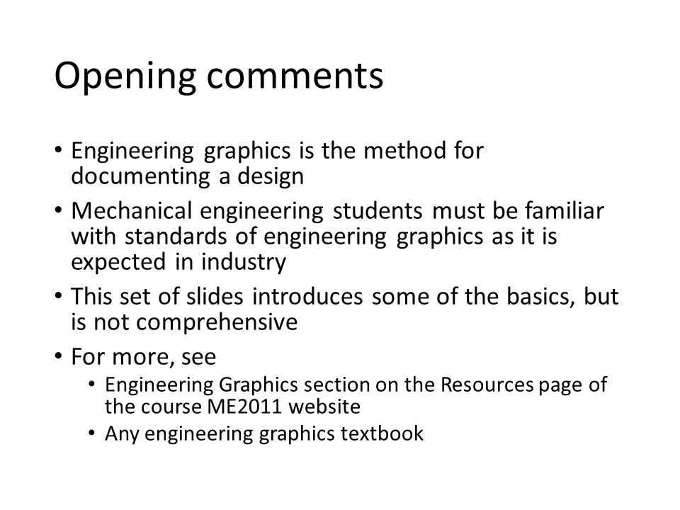 A Brief Introduction To Engineering Graphics Ppt Video Online Download