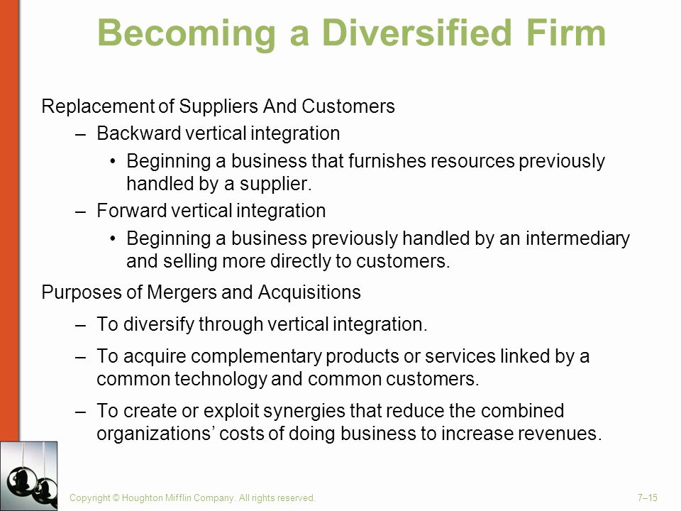 Becoming a Diversified Firm