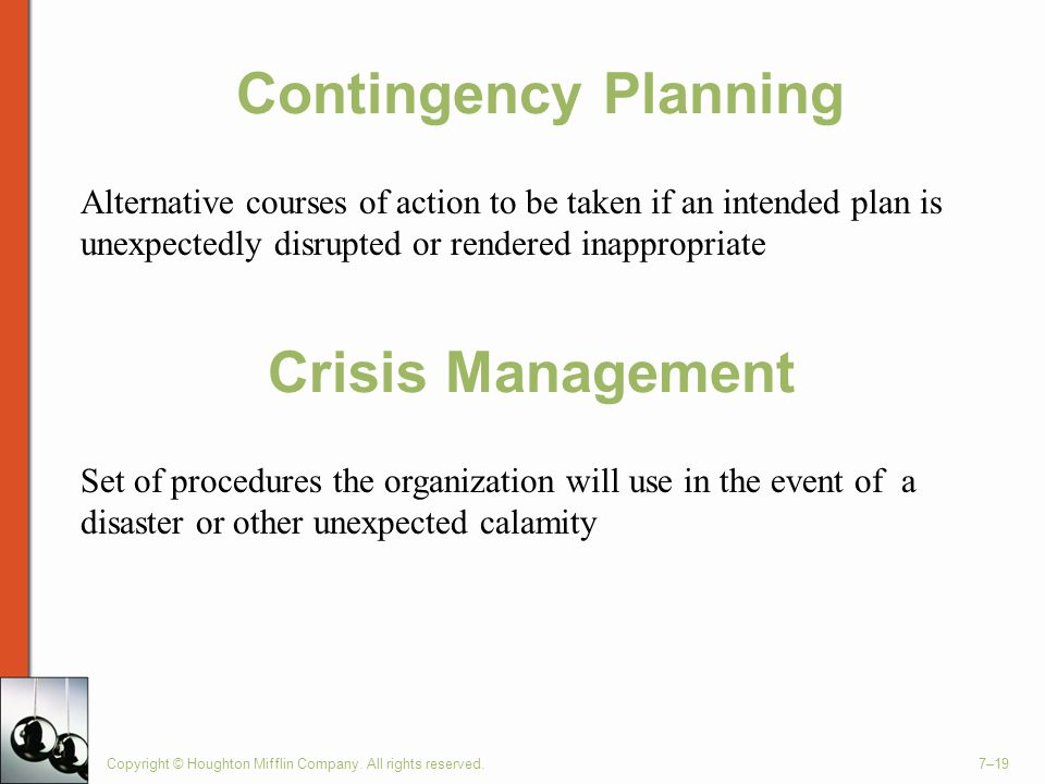 Contingency Planning Crisis Management