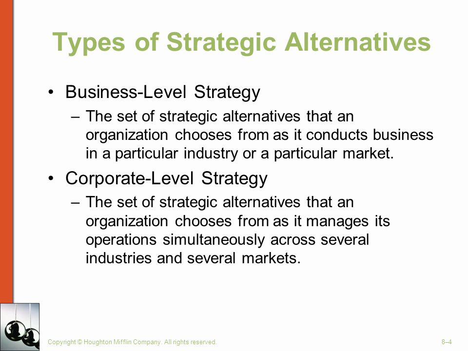 Types of Strategic Alternatives
