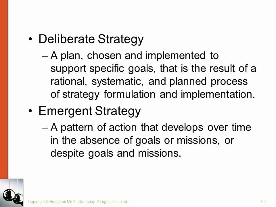 Deliberate Strategy Emergent Strategy