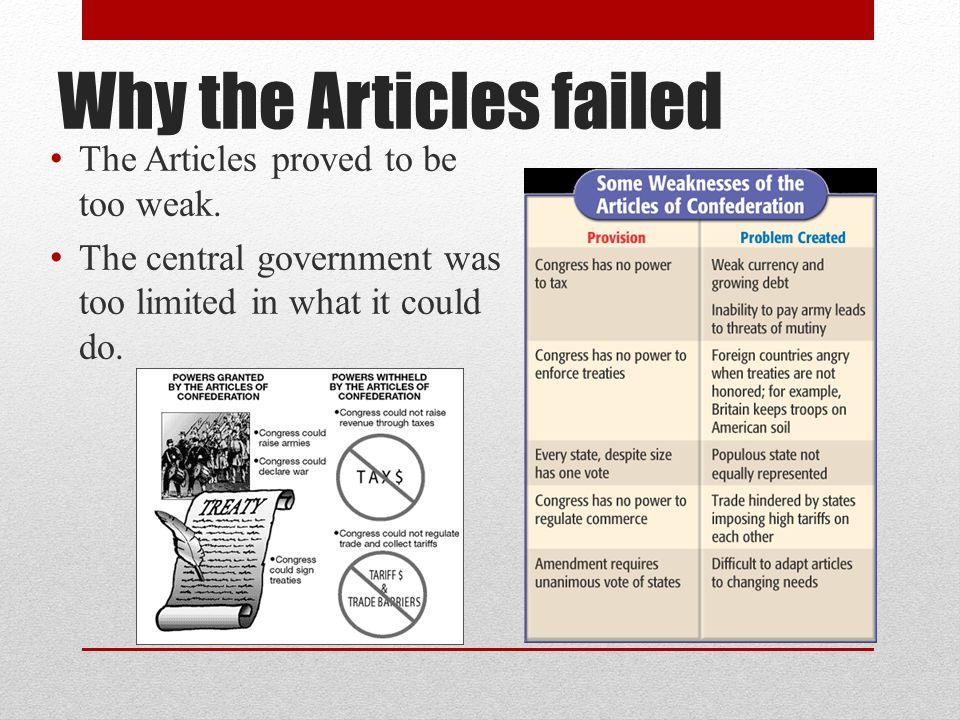 Why the Articles failed