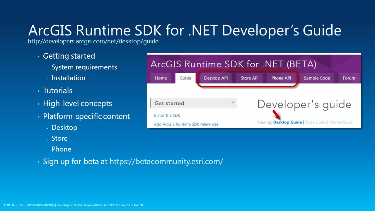 Developing Mobile Apps with the ArcGIS Runtime SDK for  NET