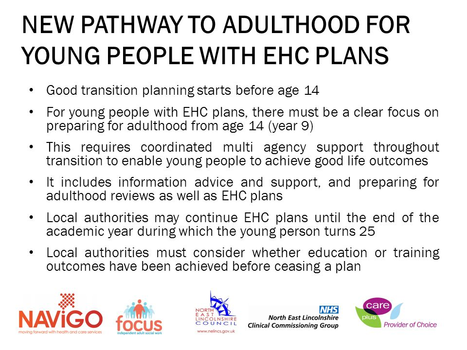 NEW PATHWAY TO ADULTHOOD FOR YOUNG PEOPLE WITH EHC PLANS