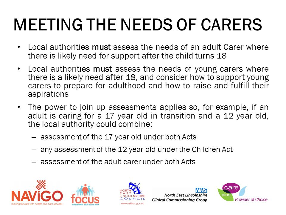 MEETING THE NEEDS OF CARERS