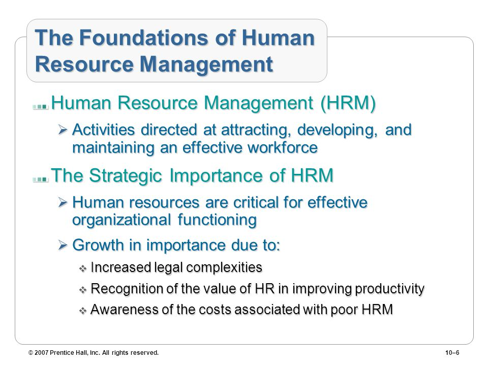 The Foundations of Human Resource Management
