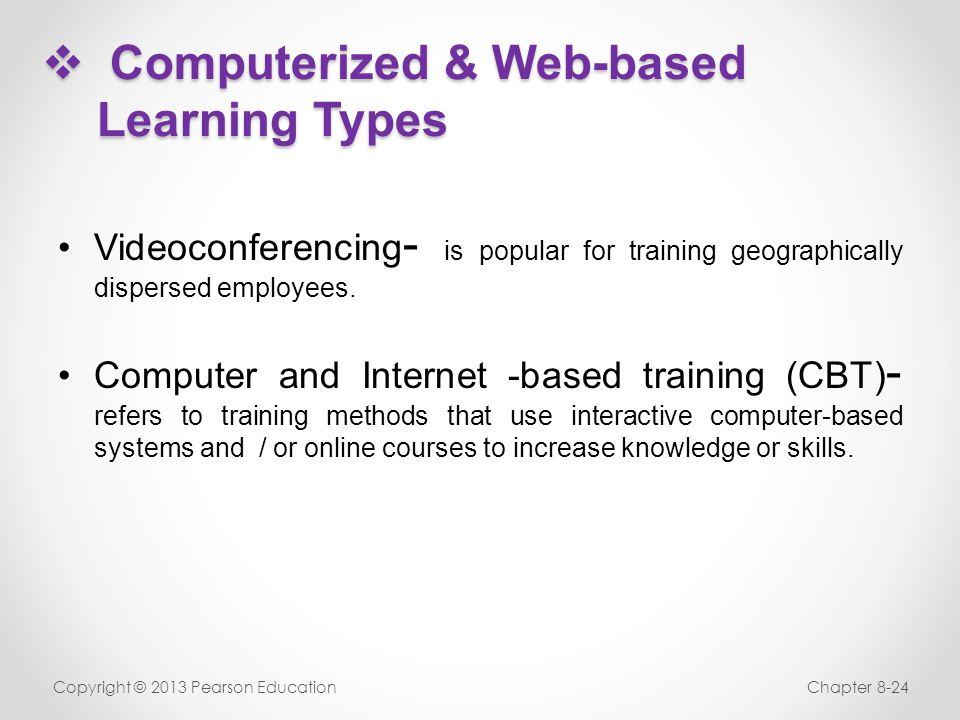 Computerized & Web-based Learning Types
