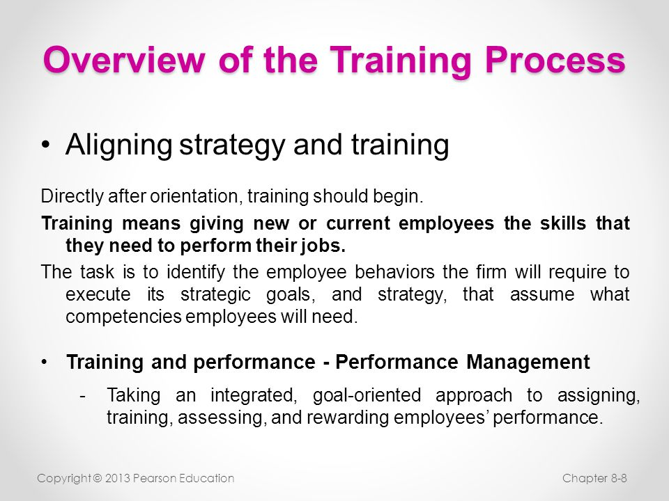 Overview of the Training Process