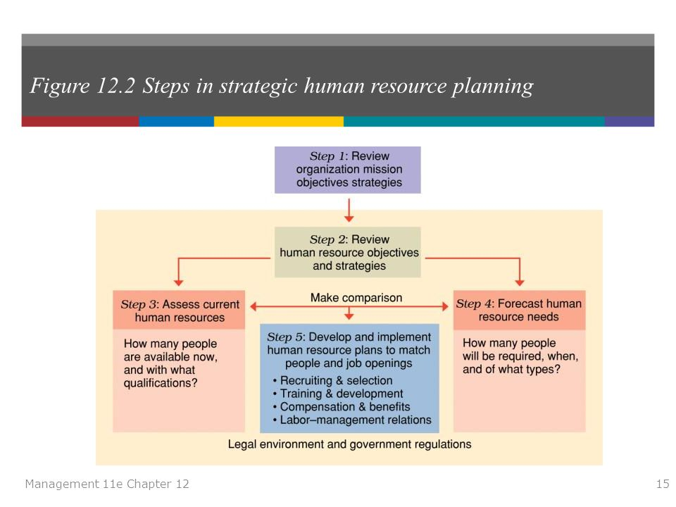 Figure 12.2 Steps in strategic human resource planning