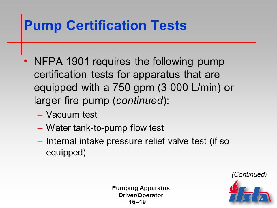 Pumping Apparatus Driver/Operator - ppt download