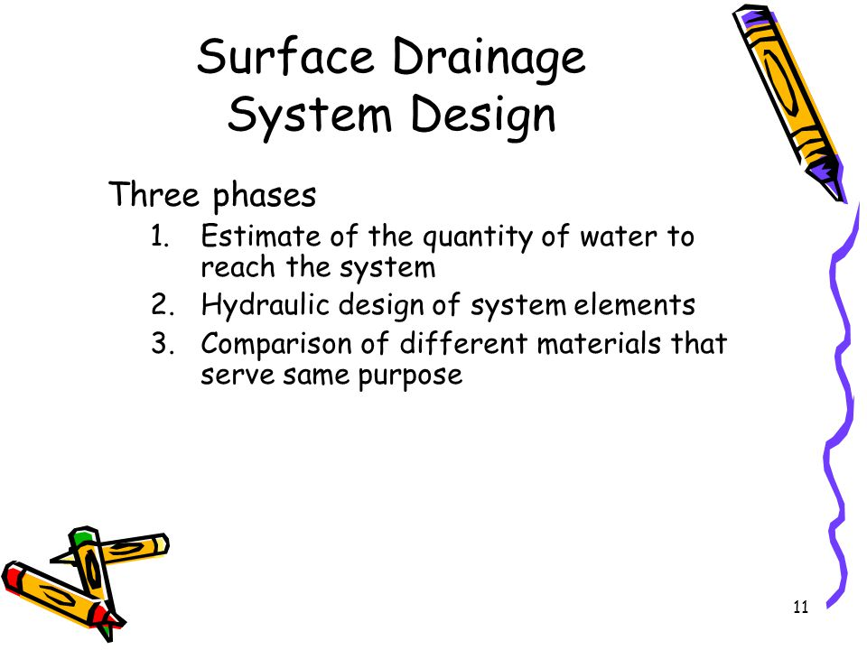 Surface Drainage System Design