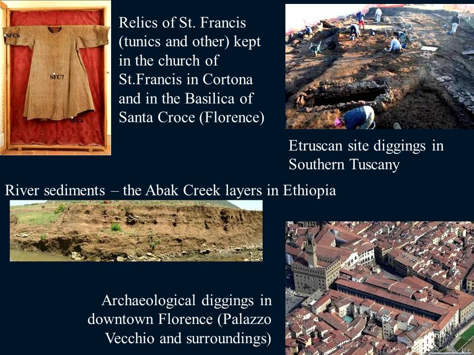 Relics of St. Francis (tunics and other) kept in the church of St