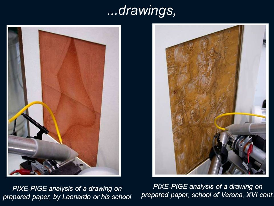 ...drawings, PIXE-PIGE analysis of a drawing on prepared paper, school of Verona, XVI cent.