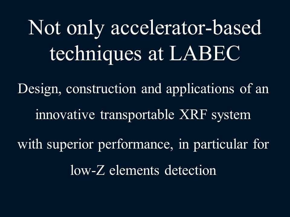 Not only accelerator-based techniques at LABEC