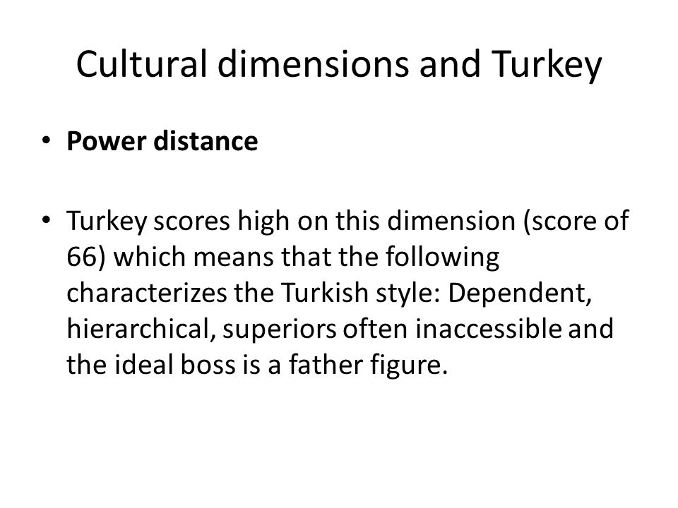 hofstede cultural dimensions turkey