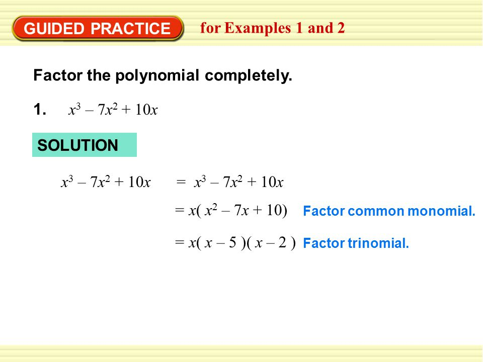 Factor the polynomial completely.