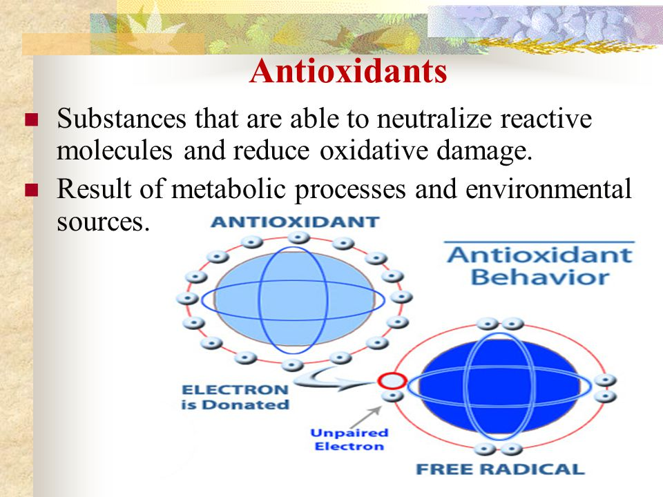 what are substances that neutralize free radicals
