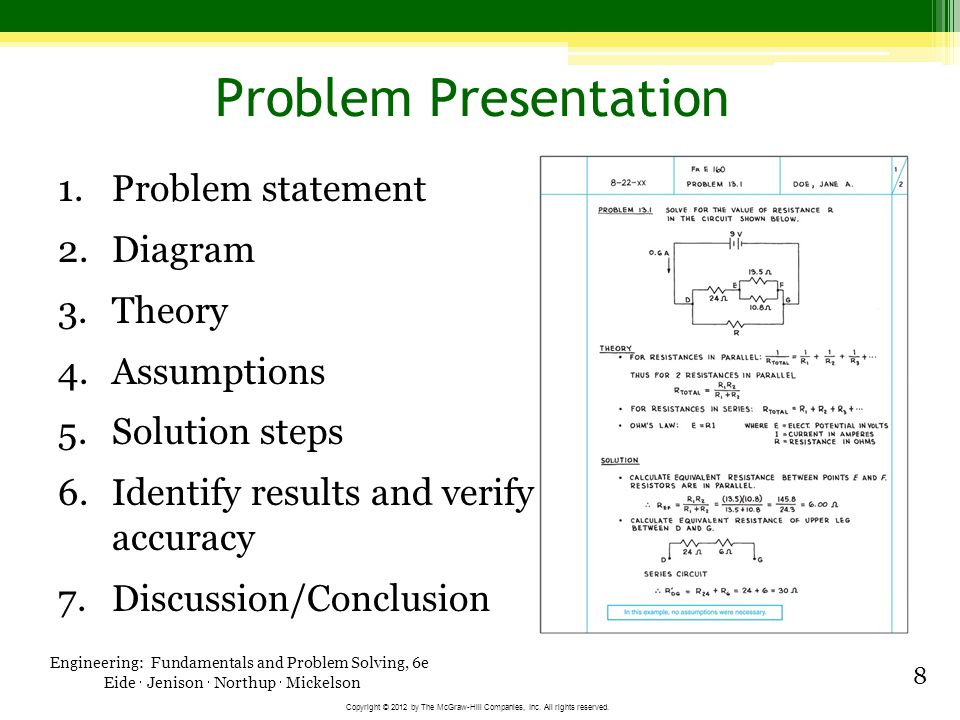 Engineering Fundamentals and Problem Solving, 6e - ppt video