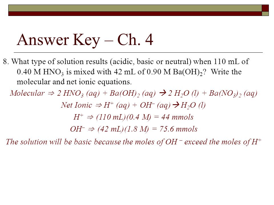 Answer Key – Ch. 4