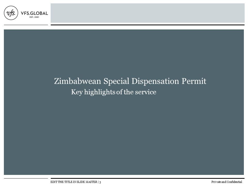 Zimbabwean Special Dispensation Permit - ppt video online