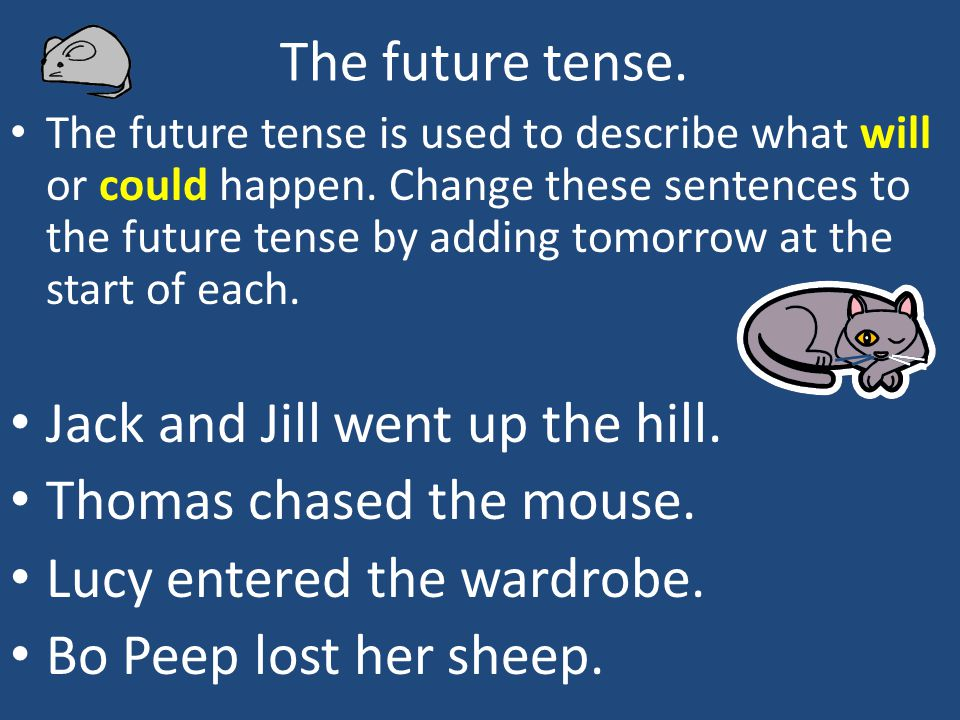 could in future tense