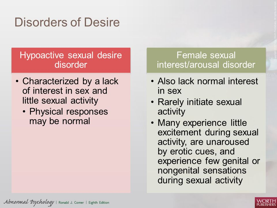 Was and Sexual arousal disorder in young girls