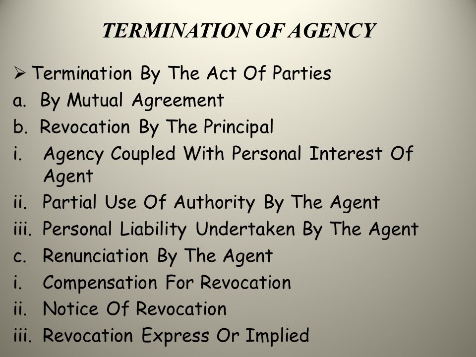 Contracts Of Agency Ppt Video Online Download
