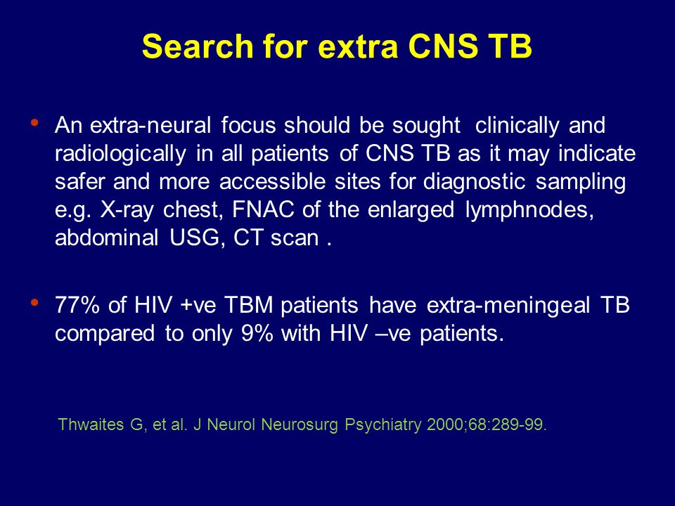 Search for extra CNS TB