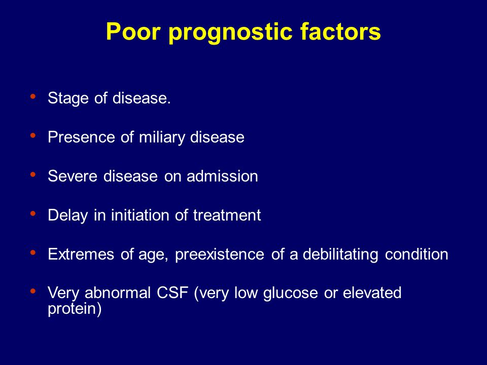 Poor prognostic factors