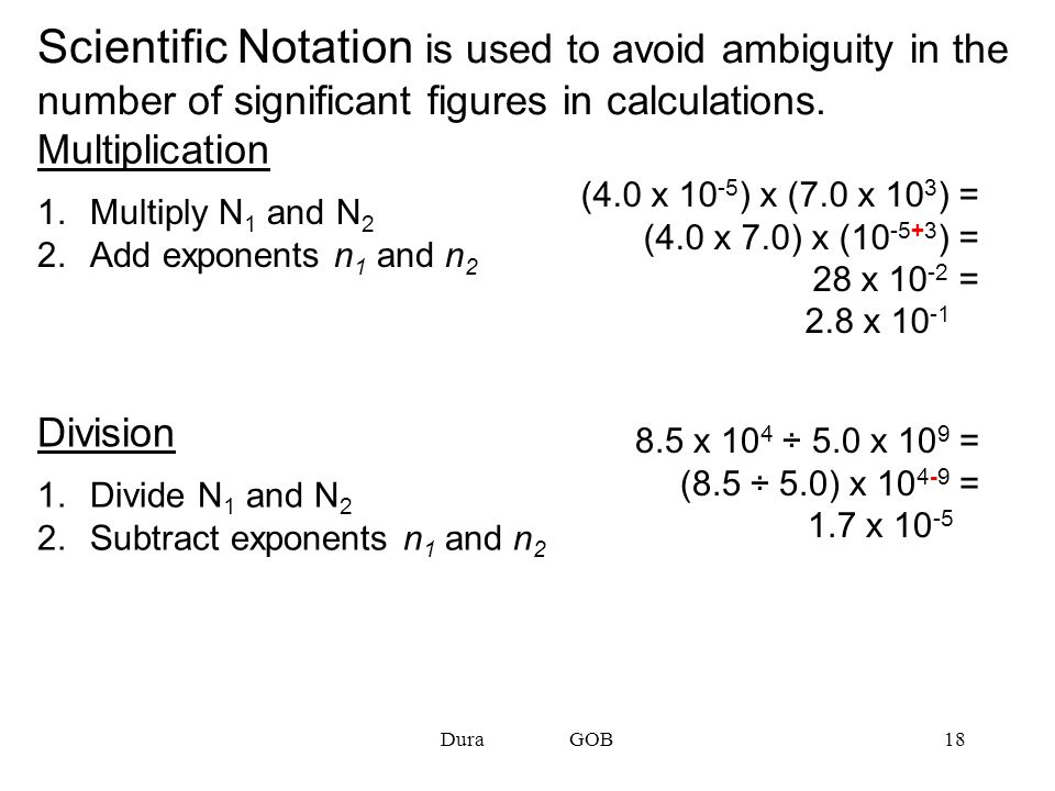 Scientific Notation is used to avoid ambiguity in the number of significant figures in calculations.
