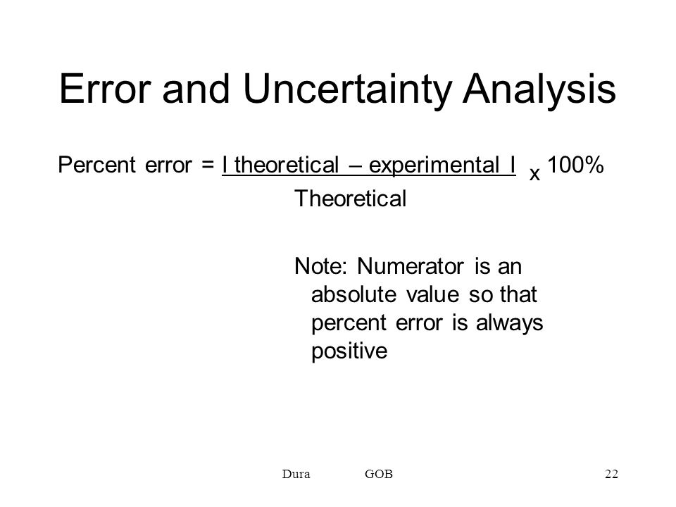 Error and Uncertainty Analysis