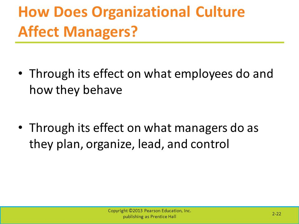 How Does Organizational Culture Affect Managers