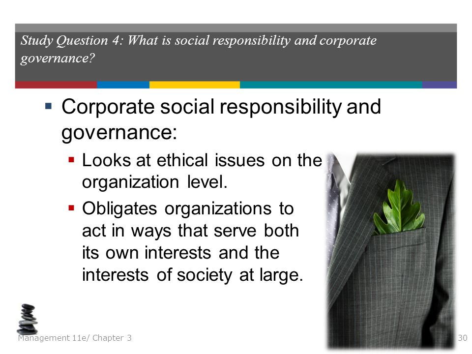 Corporate social responsibility and governance: