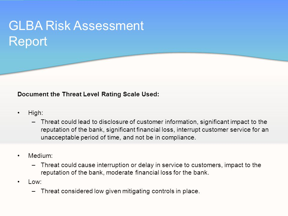 How is your institution assessing risk?   oculusit.