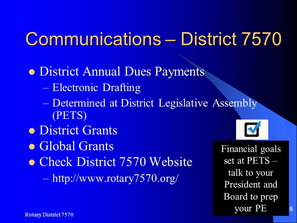 Communications – District 7570