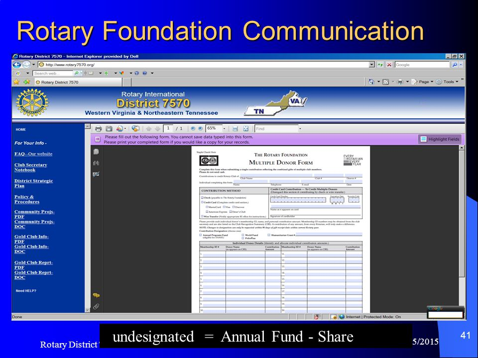 Rotary Foundation Communication