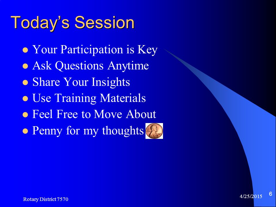 Today's Session Your Participation is Key Ask Questions Anytime