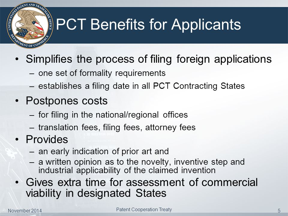 Introduction To The Patent Cooperation Treaty Ppt Video Online