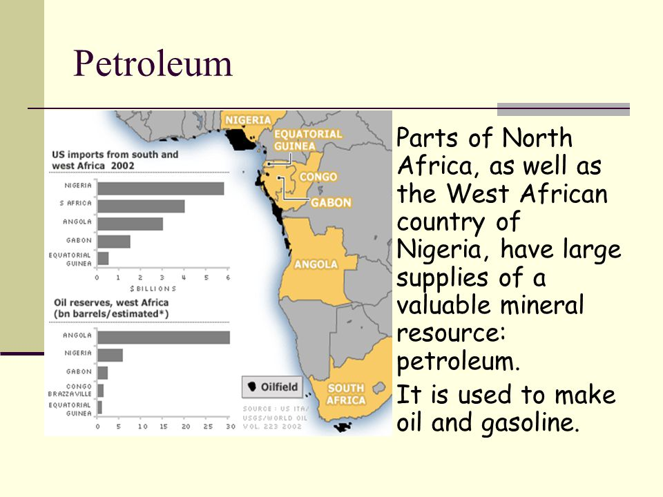 Africa geography ppt video online download petroleum parts of north africa as well as the west african country of nigeria freerunsca Choice Image