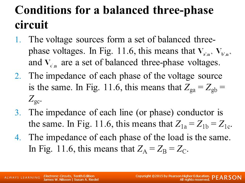 Balanced Three-Phase Circuits - ppt video online download