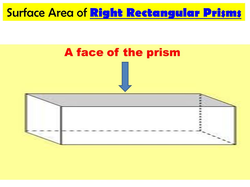 Review Surface Area Sa Of Right Rectangular Prisms And Cylinders
