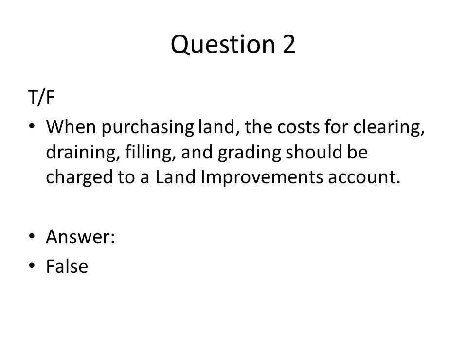 Long-Term Assets Quiz  - ppt video online download