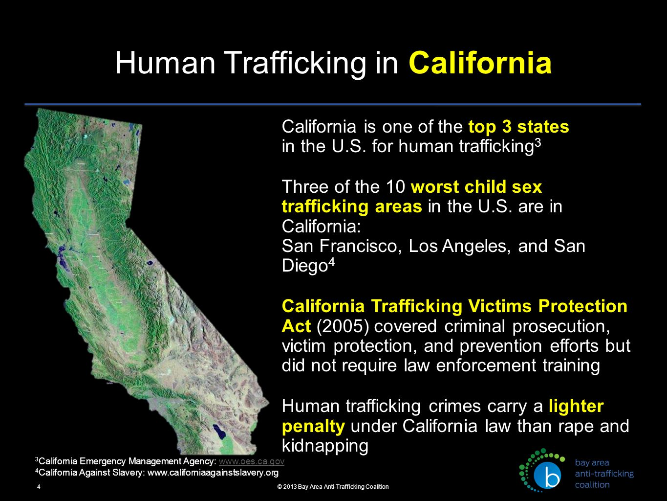 Where is sex trafficking the worst